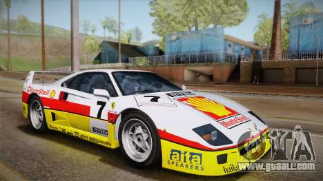 Ferrari F40 (US-Spec) 1989 HQLM for GTA San Andreas back view