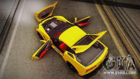 Chevrolet Corvette Stingray 2015 for GTA San Andreas interior