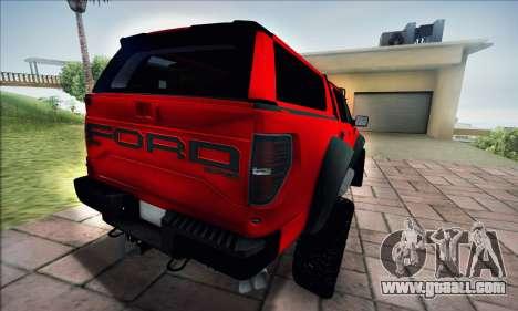 Ford F150 Raptor Long V12 for GTA San Andreas back left view