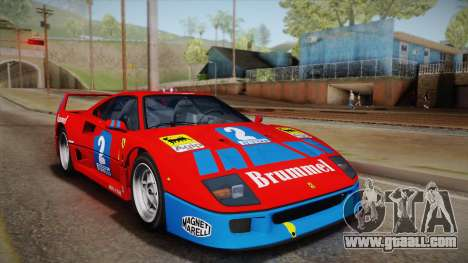Ferrari F40 (US-Spec) 1989 HQLM for GTA San Andreas inner view