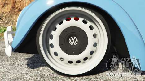 GTA 5 Volkswagen Fusca 1968 v0.9 [replace] rear right side view