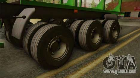 MAZ 99864 Trailer v2 for GTA San Andreas back view