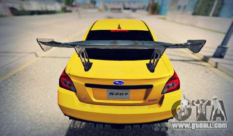 Subaru WRX STI S207 NBR CHALLENGE YELLOW EDITION for GTA San Andreas right view