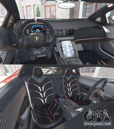 GTA 5 Lamborghini Centenario LP770-4 2017 v1.3 [a] rear right side view