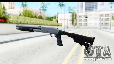Tactical Mossberg 590A1 Chrome v4 for GTA San Andreas second screenshot