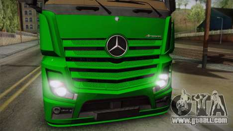 Mercedes-Benz Actros Mp4 4x2 v2.0 Gigaspace for GTA San Andreas back left view