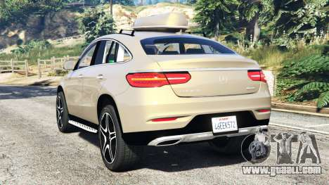 GTA 5 Mercedes-Benz GLE 450 AMG 4MATIC (C292) [add-on] rear left side view