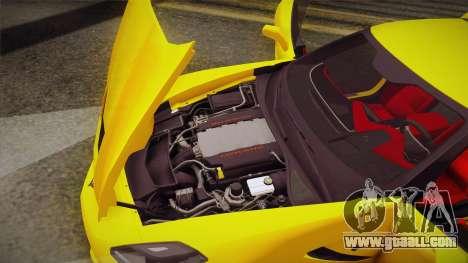 Chevrolet Corvette Stingray 2015 for GTA San Andreas upper view