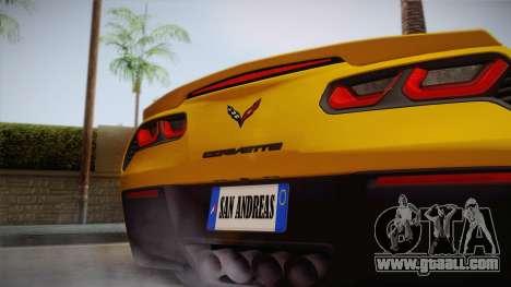 Chevrolet Corvette Stingray 2015 for GTA San Andreas right view