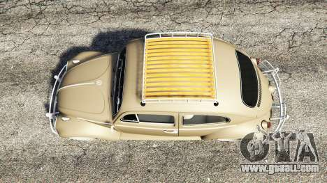 GTA 5 Volkswagen Fusca 1968 v0.8 [replace] back view