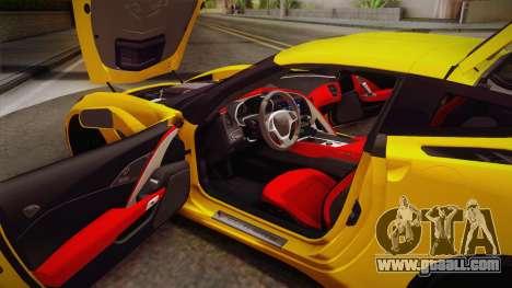 Chevrolet Corvette Stingray 2015 for GTA San Andreas side view