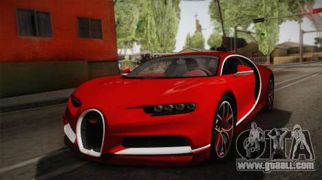 Bugatti Chiron 2017 v2.0 German Plate for GTA San Andreas