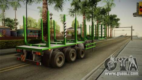 MAZ 99864 Trailer v2 for GTA San Andreas left view