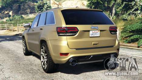 GTA 5 Jeep Grand Cherokee SRT-8 2014 [replace] rear left side view