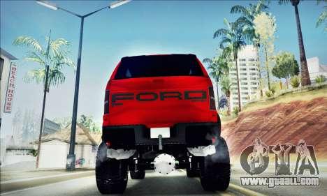 Ford F150 Raptor Long V12 for GTA San Andreas inner view
