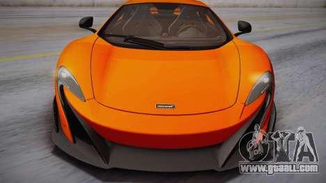 McLaren 675LT 2015 10-Spoke Wheels for GTA San Andreas back left view