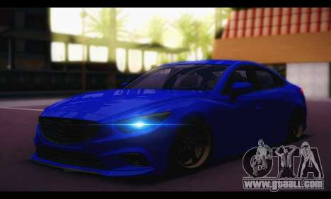 Mazda 6 Stance for GTA San Andreas back left view