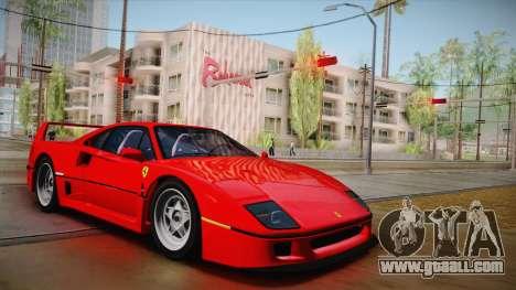 Ferrari F40 (US-Spec) 1989 HQLM for GTA San Andreas