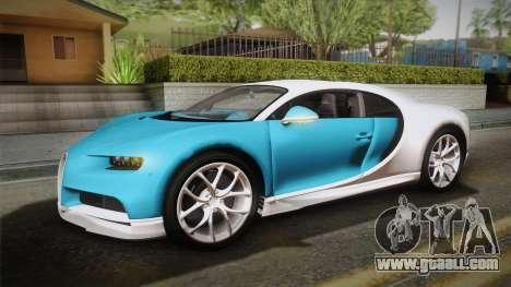 Bugatti Chiron 2017 v2.0 Korean Plate for GTA San Andreas side view