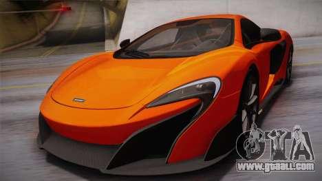 McLaren 675LT 2015 10-Spoke Wheels for GTA San Andreas side view