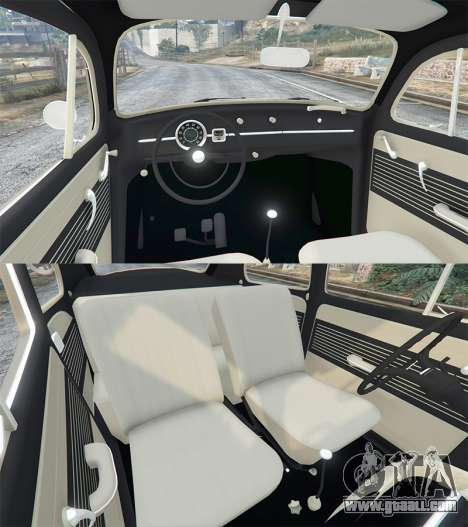 GTA 5 Volkswagen Fusca 1968 v0.8 [replace] front right side view