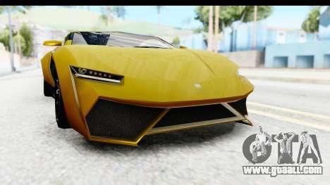 GTA 5 Pegassi Reaper IVF for GTA San Andreas upper view