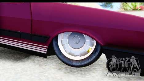 Volkswagen Passat Pointer GTS 1.8 1988 for GTA San Andreas back view