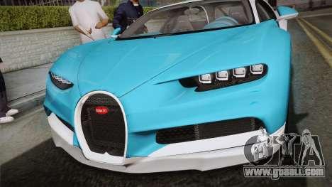 Bugatti Chiron 2017 v2.0 Korean Plate for GTA San Andreas right view