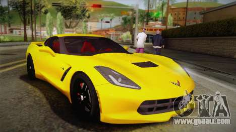 Chevrolet Corvette Stingray 2015 for GTA San Andreas