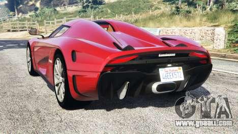 GTA 5 Koenigsegg Regera 2016 v1.1a [add-on] rear left side view
