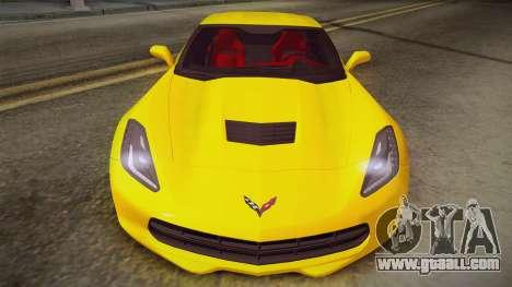 Chevrolet Corvette Stingray 2015 for GTA San Andreas back left view