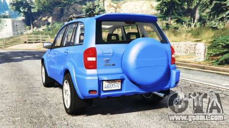 GTA 5 Toyota RAV4 (XA20) [replace] rear left side view