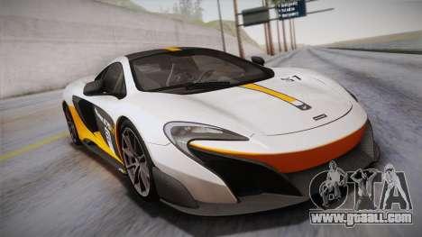 McLaren 675LT 2015 10-Spoke Wheels for GTA San Andreas bottom view