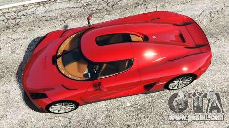GTA 5 Koenigsegg Regera 2016 v1.1a [add-on] back view