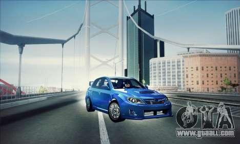 Subaru Impreza WRX STI 2011 for GTA San Andreas