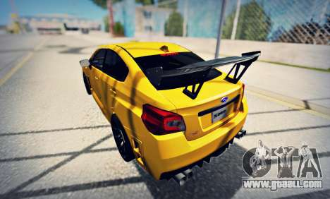 Subaru WRX STI S207 NBR CHALLENGE YELLOW EDITION for GTA San Andreas back left view