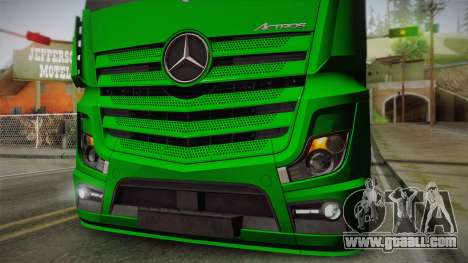 Mercedes-Benz Actros Mp4 4x2 v2.0 Gigaspace for GTA San Andreas back view