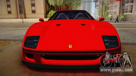 Ferrari F40 (US-Spec) 1989 HQLM for GTA San Andreas right view