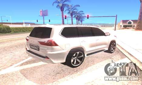 Lexus LX570 for GTA San Andreas right view