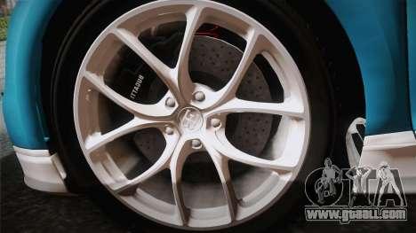 Bugatti Chiron 2017 v2.0 German Plate for GTA San Andreas back view