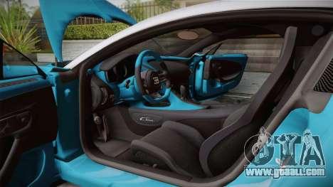 Bugatti Chiron 2017 v2.0 Korean Plate for GTA San Andreas bottom view