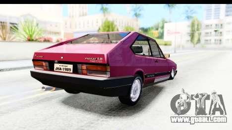 Volkswagen Passat Pointer GTS 1.8 1988 for GTA San Andreas back left view