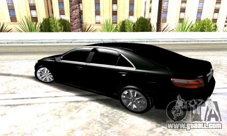 Toyota Camry for GTA San Andreas back left view