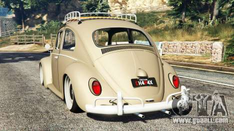 GTA 5 Volkswagen Fusca 1968 v0.8 [replace] rear left side view