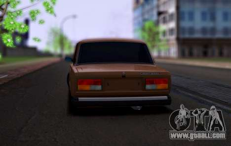 VAZ 2107 Hobo for GTA San Andreas back left view