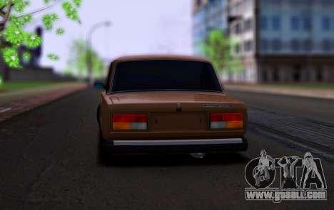 VAZ 2107 Hobo for GTA San Andreas back left view