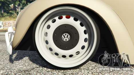 GTA 5 Volkswagen Fusca 1968 v0.8 [replace] right side view