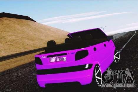 Daewoo Matiz for GTA San Andreas back left view