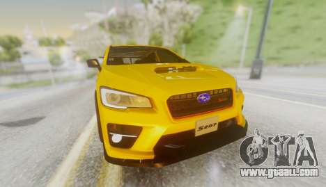 Subaru WRX STI S207 NBR CHALLENGE YELLOW EDITION for GTA San Andreas back view