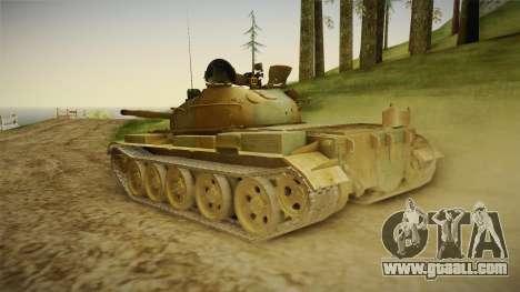 T-62 Desert Camo v2 for GTA San Andreas left view